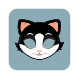 Cat mask for festivities Royalty Free Stock Photography