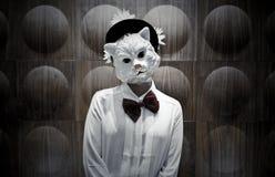 Cat Mask Portrait Imágenes de archivo libres de regalías