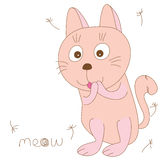Cat meow Stock Photo