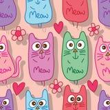 Cat meow seamless pattern Stock Photo