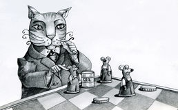 The cat and the mice Royalty Free Stock Photo