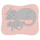 Cat Mom Imagen de archivo libre de regalías
