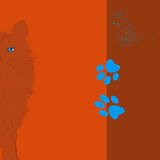 Cat with mouse. Decorative colorful background Royalty Free Stock Images
