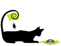 Cat and Mouse. Vector Illustration Royalty Free Stock Photos