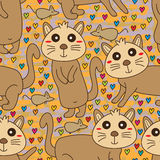 Cat mouse face cute seamless pattern Royalty Free Stock Photo