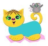 Cat and Mouse are Friends Royalty Free Stock Images