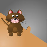Cat and the mouse hole Royalty Free Stock Images