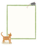 Cat and Mouse Message Board Stock Photography