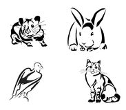 Cat and Mouse.rabbit ,tattoo Stock Photography