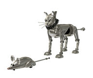 Cat and mouse robot Royalty Free Stock Photos