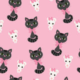 Cat and mouse seamless wallpaper Stock Image