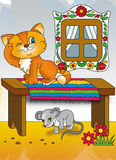 The cat and the mouse Royalty Free Stock Image