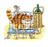 Cat and mouse Royalty Free Stock Images