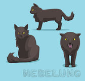 Cat Nebelung Cartoon Vector Illustration. Animal Cartoon EPS10 File Format Royalty Free Stock Photography