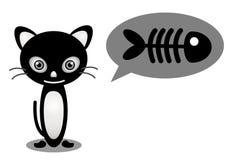 Cat need fish Stock Image