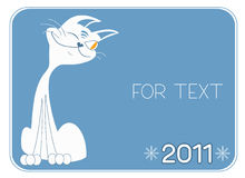 Cat .New Year symbol for text Stock Image