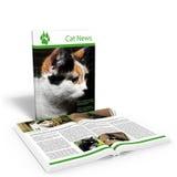 Cat News. 3d render of cat news Stock Image