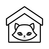 Cat nose funny animal house pet outline. Illustration eps 10 Stock Photo