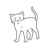 Cat outline. Funny cat outline , illustration stock illustration