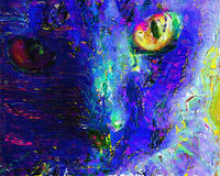 Cat Painting Immagine Stock
