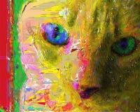 Cat Painting vector illustratie