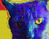 Cat Painting royalty-vrije illustratie