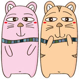 Cat pair design Stock Photos