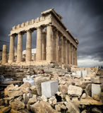 Cat and Parthenon Stock Image