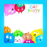 Cat party card Royalty Free Stock Photography