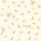 Cat pattern. A illustration of cat pattern graphic Royalty Free Stock Photography