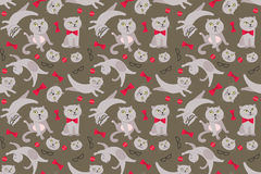 Cat pattern Royalty Free Stock Images