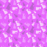 Cat Pattern Pink. A seamless pink and purple cat pattern Stock Images