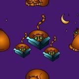 Cat pattern. Cat seamless pattern, vector image Royalty Free Illustration
