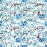 Cat pattern Stock Photos