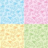 Cat patterns Royalty Free Stock Photo