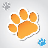 Cat paw banner royalty free illustration