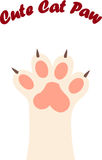 Cat paw print with claws Stock Image