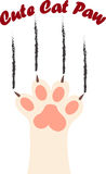 Cat paw print with claws. Original trendy vector illustration of a cat paw print with claws Stock Photography