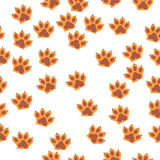 Cat paw print with claws Royalty Free Stock Photos