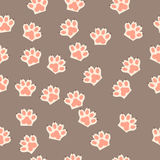 Cat paw print with claws Royalty Free Stock Images