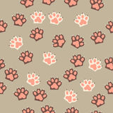 Cat paw print with claws. Original trendy vector seamless pattern with cat paw print with claws Royalty Free Stock Images