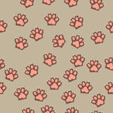 Cat paw print with claws. Original trendy vector seamless pattern with cat paw print with claws Royalty Free Stock Photography