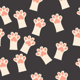 Cat paw print with claws. Original trendy vector seamless pattern with cat paw print with claws Stock Photography