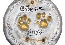 Cat paw print Stock Photography