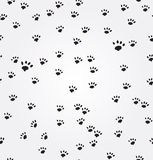 Cat  Paw Prints vector seamless background Royalty Free Stock Photo