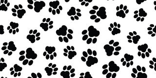 Cat paw seamless Stock Images