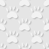 Cat paw silhouette seamless pattern Stock Photography