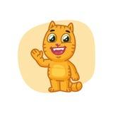 Cat Paw Waving et sourire Photographie stock