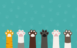 Cat paws. Different color of cat paws stock illustration