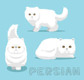 Cat Persian Cartoon Vector Illustration. Animal Cartoon EPS10 File Format Royalty Free Stock Photography